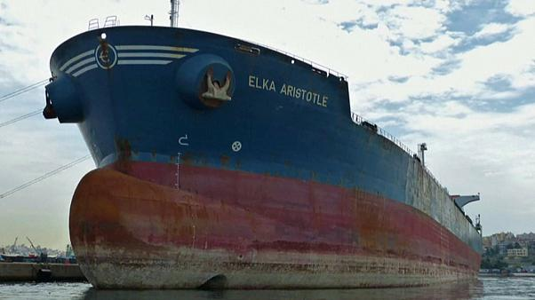 The Elka Aristotle oil tanker, built in 2003, is registered to a Greek company.