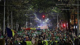 Romanya'da binlerce kişi ağaç kesilmesini protesto etti