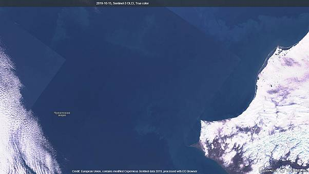 El Mar de Chukchi, sin hielo el 15 de octubre