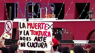 Protesta antitaurina en Lima