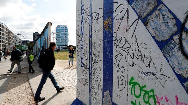أجزاء من الجانب الشرقي وهو الجزء الأكبر المتبقي من جدار برلين السابق في برلين ألمانيا  19 سبتمبر 2019