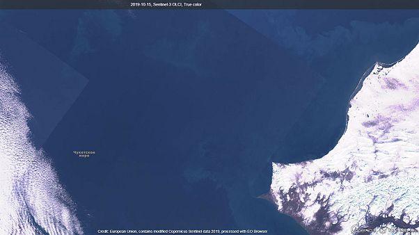 Das Tschuktschenmeer am 15. Oktober 2019.