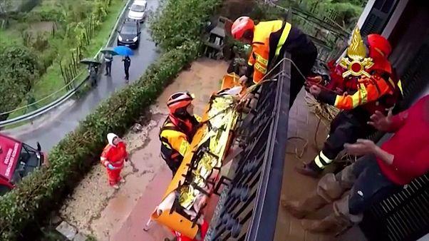 شاهد: عمليات إجلاء إثر فيضانات تضرب إيطاليا