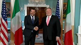 Italy's Matteo Salvini in US for talks with Mike Pompeo and Mike Pence
