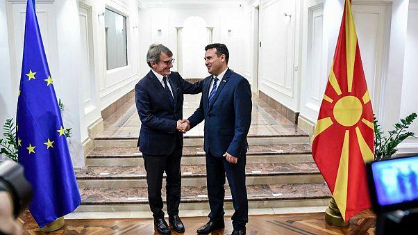Ο πρόεδρος του Ευρωκοινοβουλίου στηρίζει τη Βόρεια Μακεδονία
