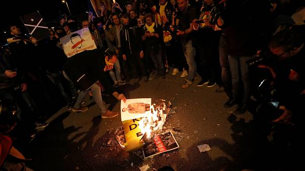 Каталонские сепаратисты против визита короля