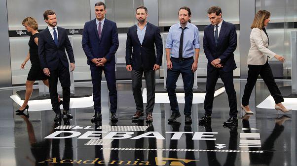 El bloqueo y la crisis catalana se imponen en el único debate electoral en España