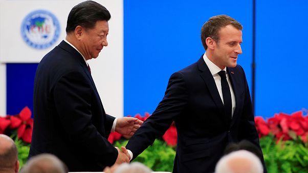 Макрон  и Си договариваются о торговле и климате