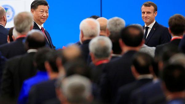 الرئيس الصيني يتعهد أمام ماكرون بمزيد من الانفتاح الاقتصادي واتفاقات التجارة الحرة