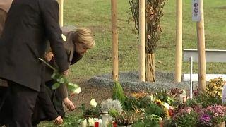 Gedenken trotz Störer: Merkel erinnert an NSU-Opfer in Zwickau