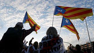 Des militants indépendantistes lors d'une manifestation à Barcelone, le 4 novembre 2019