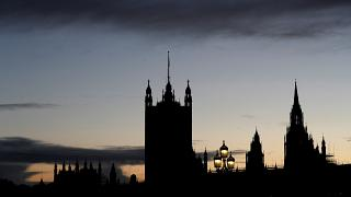 The Houses of Parliament are seen during a sunset in London, Britain, November 4, 2019.