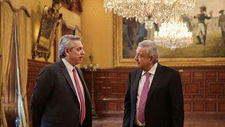 AMLO y Alberto Fernández, el eje de izquierdas se construye en México