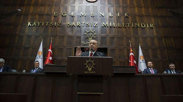 Türkiye Cumhurbaşkanı ve AK Parti Genel Başkanı Recep Tayyip Erdoğan, partisinin TBMM Grup Toplantısı'na katılarak konuşma yaptı. ( Binnur Ege Gürün - Anadolu Ajansı )