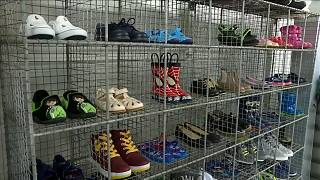 Watch: UK charity struggles to meet demand for children's shoes