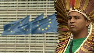 Бразильские индейцы в Брюсселе