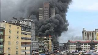 Fire engulfs market in Nigeria's commercial capital Lagos