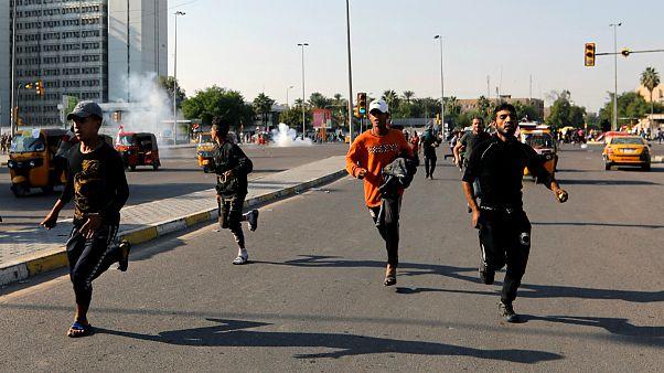 درگیری معترضان با نیروهای امنیتی در عراق