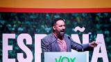 Santiago Abascal, leader and presidential candidate of Spain's far-right party VOX.