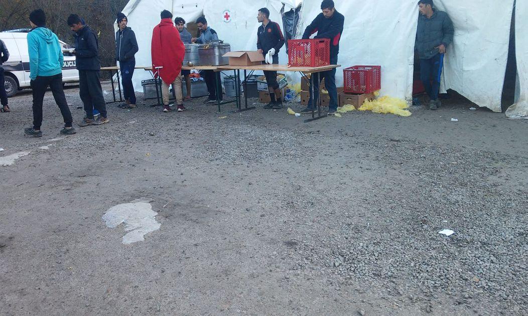 Migrant in Vucjak camp
