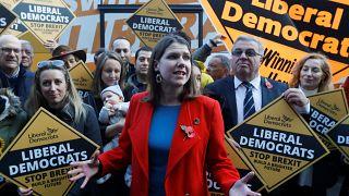 Leader of Britain's Liberal Democrats Jo Swinson in London, Britain, November 6, 2019.