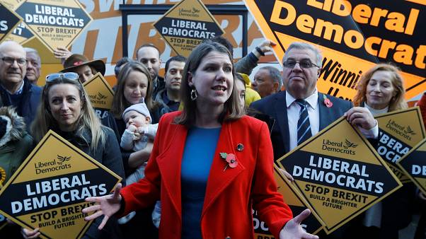 Leader of Britain's Liberal Democrats Jo Swinson in London, Britain, November 6, 2019.