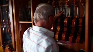 Watch: Award-winning violin maker made his first instrument for his son