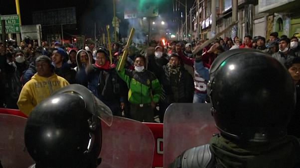 Clashes erupt across Bolivia amid unrest over election result