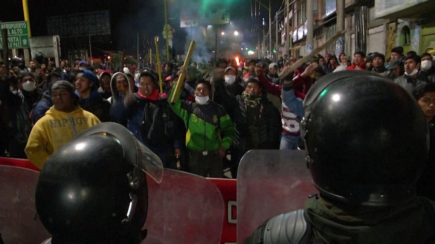ویدئو؛ ادامه ناآرامیهای خیابانی در بولیوی