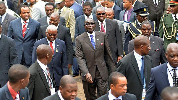 Zimbabwe's President Robert Mugabe, Mozambique's President Armando Guebuza, Swaziland's King Mswati III and Congo's President Joseph Kabila