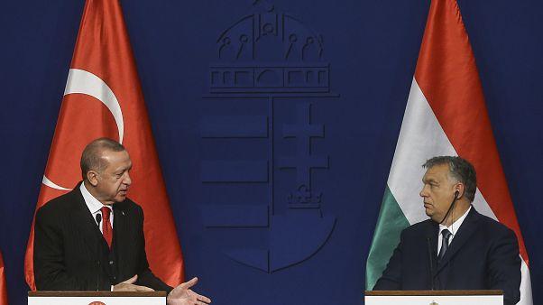 Cumhurbaşkanı Recep Tayyip Erdoğan ve Macaristan Başbakanı Victor Orban