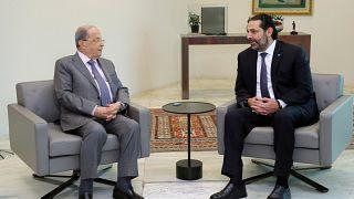 عون والحريري في قصر بعبدا 7 نوفمبر 2019