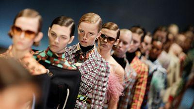 Models at Prada Fashion Show