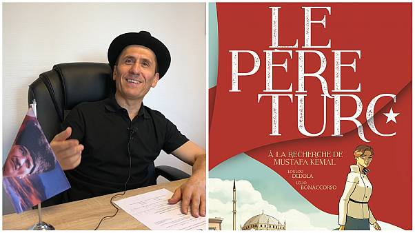 "Fransız yazar Loulou Dedola ve kitabı ""Le père turc"""