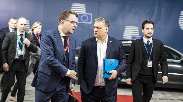 Várhelyi Olivér és Orbán Viktor 2018 március 23-án