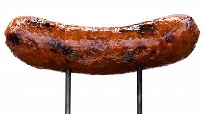 A plant-based sausage