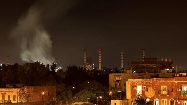 The Ilva steel plant is seen next to the Tamburi district, in Taranto, Italy