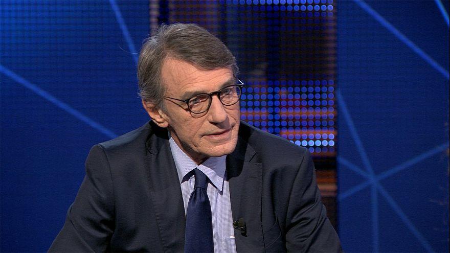 Watch in full: Euronews interviews EU parliament chief David Sassoli
