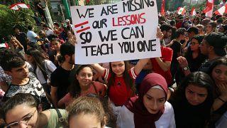 جانب من مظاهرات الطلبة