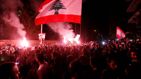 جانب من التظاهرات في بيروت 7 نوفمبر 2019