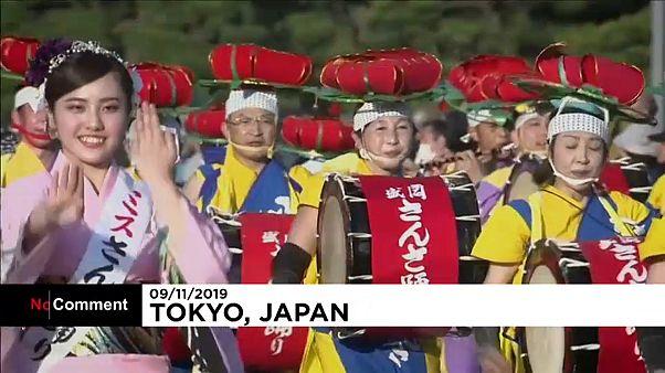 من العروض التي قدّمت في الساحة الإمبريالية في طوكيو