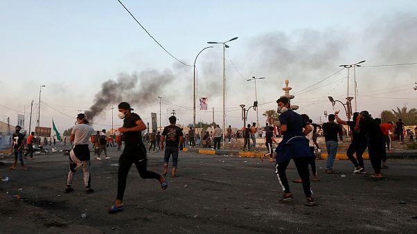 جانب من مظاهرات البصرة