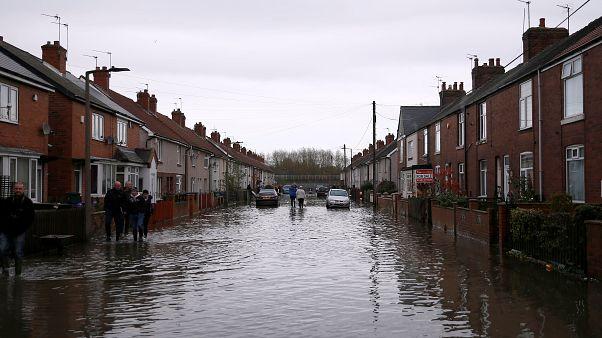 Inghilterra centrale e settentrionale sott'acqua