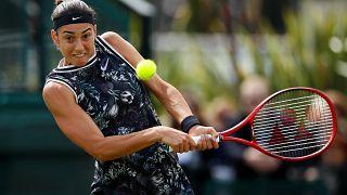 FILE PHOTO: Tennis - Nature Valley Open - Nottingham Tennis Centre, Nottingham - June 16, 2019 France's Caroline Garcia in action during the final