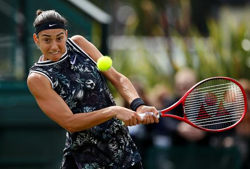 FILE PHOTO: Tennis - Nature Valley Open - Nottingham Tennis Centre, Nottingham - June 16, 2019 France's Caroline Garcia in action during the final