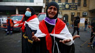 متظاهرة في بغداد