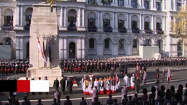 Queen attends Remembrance day service in London