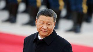 الرئيس الصيني خلال أحد الاحتفالات الوطنية في بكين