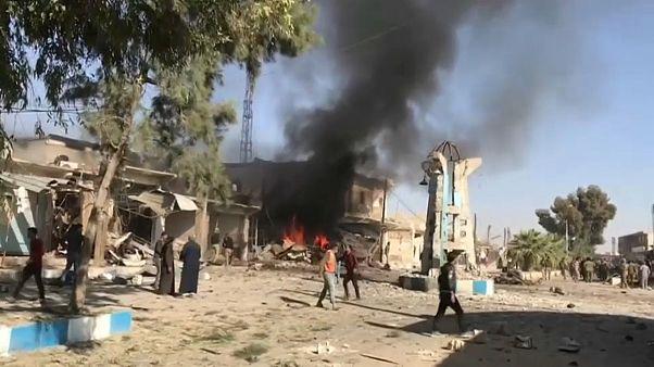 صورة من مكان الانفجار