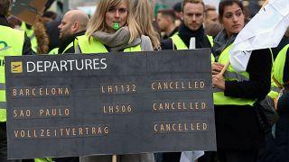 Немецкие профсоюзы грозят Lufthansa